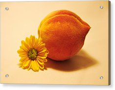 Acrylic Print featuring the photograph Peachy by Linda Segerson
