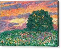 Peachy Sunset Acrylic Print by Kendall Kessler