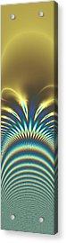 Peacock Abstract 2 Acrylic Print by Faye Symons