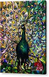 Peacock Acrylic Print by American School