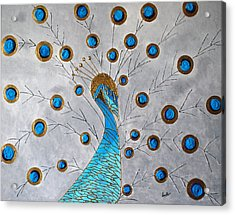 Peacock And Its Beauty Acrylic Print