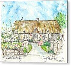 House Portrait Peacock Cottage Kanturk County Cork Ireland Acrylic Print