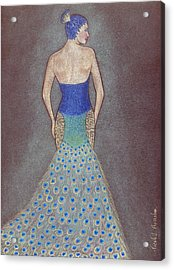 Peacock Fashion Inspiration Acrylic Print by Nicole I Hamilton
