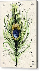 Peacock Feather Acrylic Print by Mark M  Mellon