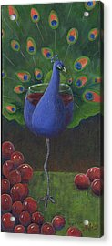 Peacock Pinot Acrylic Print by Debbie McCulley