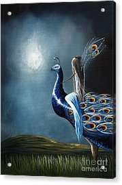 Peacock Princess By Shawna Erback Acrylic Print by Shawna Erback