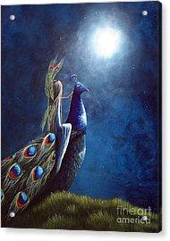 Peacock Princess II By Shawna Erback Acrylic Print by Shawna Erback