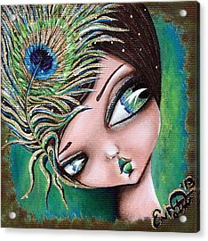 Peacock Princess Acrylic Print