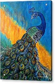 Peacock Waltz #3 Acrylic Print