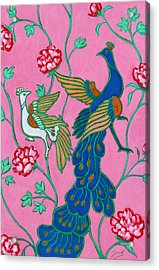 Peacocks Flying Southeast Acrylic Print by Xueling Zou