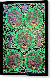 Peacocks-madhubani Painting Acrylic Print