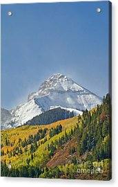 Peak After First Snow Rocky Mts Colorado Acrylic Print by Yva Momatiuk John Eastcott