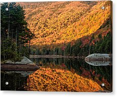 Acrylic Print featuring the photograph Peak Fall Foliage On Beaver Pond by Jeff Folger