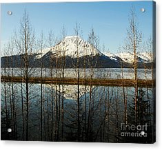 Peak Reflections 1 Acrylic Print by Mel Steinhauer
