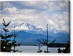 Peaking The Clouds Acrylic Print