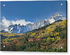 Peaks After First Snow Rockies Acrylic Print by Yva Momatiuk John Eastcott