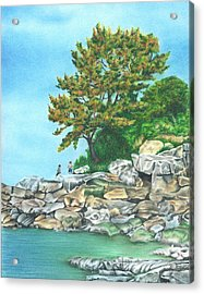 Peaks Island Acrylic Print by Troy Levesque