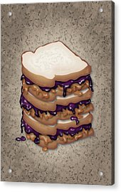 Peanut Butter And Jelly Sandwich Acrylic Print by Ym Chin