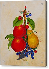 Pear And Apples Acrylic Print by Johanna Bruwer