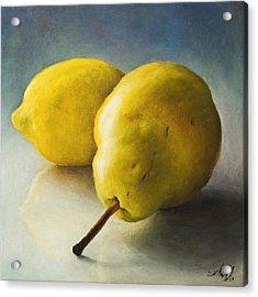 Pear And Lemon Acrylic Print by Anna Abramska