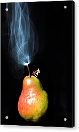 Pear And Smoke Little People On Food Acrylic Print
