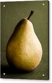 Pear Acrylic Print by Cole Black