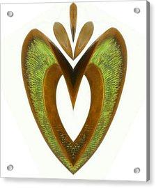 Pear Heart Acrylic Print