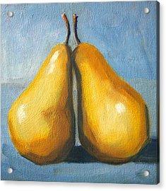 Pear Love Acrylic Print by Nancy Merkle