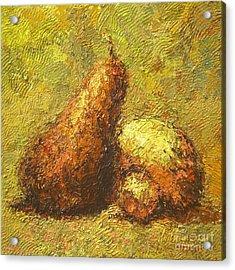 Pear Acrylic Print by Max Yamada