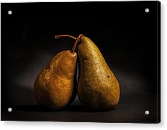 Pear Of Lovers Acrylic Print by Peter Tellone