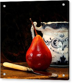 Pear Pitcher Knife Acrylic Print