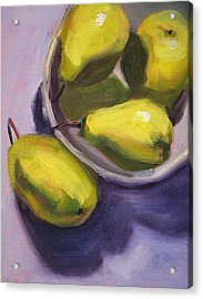Pear Shadows Acrylic Print