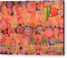 Pear Sphere Acrylic Print by Adel Nemeth