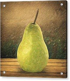 Pear Acrylic Print by Taylan Apukovska
