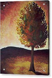 Pear Tree Acrylic Print by Samantha Black