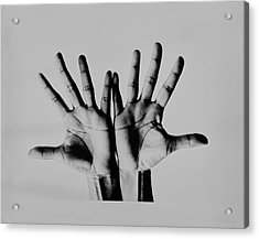 Pearl Bailey's Hands Acrylic Print by Bert Stern