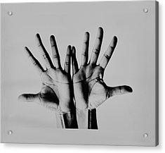 Pearl Bailey's Hands Acrylic Print by Bert Stern