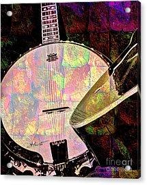 Pearl Digital Banjo And Guitar Art By Steven Langston Acrylic Print by Steven Lebron Langston