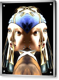 Pearl Earring Pearl Acrylic Print