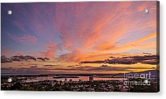 Acrylic Print featuring the photograph Pearl Harbor At Sunset by Aloha Art