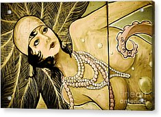 Pearl Mermaid  Acrylic Print by Colleen Kammerer