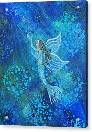 Pearl Out Of The Depths Acrylic Print by The Art With A Heart By Charlotte Phillips