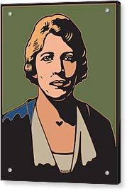 Pearl S Buck Acrylic Print