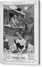 Pears  1899 1890s Uk Cc Sunlight Winter Acrylic Print by The Advertising Archives