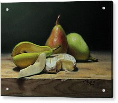 Pears And Cheese Acrylic Print