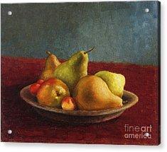 Pears And Cherries Acrylic Print