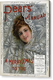 Pears Annual 1899 1890s Uk Cc Christmas Acrylic Print by The Advertising Archives