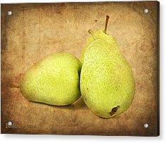 Pears Acrylic Print by Barbara Orenya