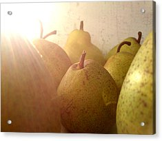 Acrylic Print featuring the photograph Pears by Lucy D