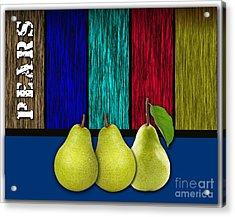 Pears Acrylic Print by Marvin Blaine